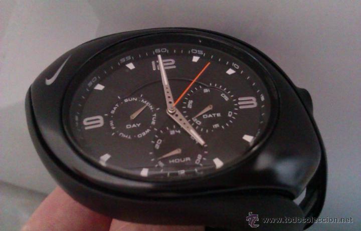 Relojes: BONITO Y ELEGANTE RELOJ DEPORTIVO NIKE NEGRO CON TRES SUB-ESFERAS PEQUEÑAS COMO NUEVO PVP 215€ - Foto 2 - 46474039