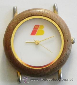 RELOJ DE PULSERA IBERIA DE AGUJAS PUBLICIDAD CON LOGOTIPO ANTIGUO - CAJA D MADERA - AVIÓN TRANSPORTE (Relojes - Relojes Actuales - Otros)