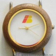 Relojes: RELOJ DE PULSERA IBERIA DE AGUJAS PUBLICIDAD CON LOGOTIPO ANTIGUO - CAJA D MADERA - AVIÓN TRANSPORTE. Lote 46589985