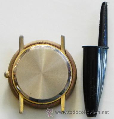 Relojes: RELOJ DE PULSERA IBERIA DE AGUJAS PUBLICIDAD CON LOGOTIPO ANTIGUO - CAJA D MADERA - AVIÓN TRANSPORTE - Foto 2 - 46589985