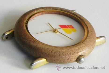 Relojes: RELOJ DE PULSERA IBERIA DE AGUJAS PUBLICIDAD CON LOGOTIPO ANTIGUO - CAJA D MADERA - AVIÓN TRANSPORTE - Foto 3 - 46589985