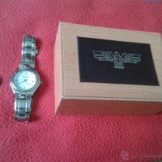 Relojes: BONITO RELOJ A IDENTIFICAR. DESCONOZCO MARCA. CON AGUILA FUNCIONA CORRECTAMENTE. SE INCLUYE LA CAJA. Lote 46769246