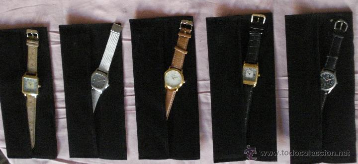 LOTE DE 5 RELOJES DE PULSERA NUEVOS A ESTRENAR. VIENEN CON SU FUNDA DE TERCIOPELO (Relojes - Relojes Actuales - Otros)
