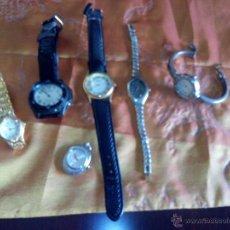 Relojes: LOTE DE 5 RELOJES DE MUÑECA Y 1 DE COLGANTE O BOLSILLO. SIN COMPROBAR NO SE SI FUNCIONAN.. Lote 47437488
