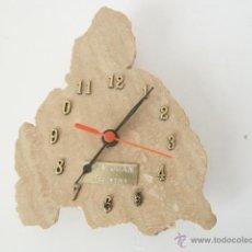 Relojes: ORIGINAL RELOJ DE PARED, REALIZADO EN PIEDRA DE MARMOL, CUARZO. Lote 47566431