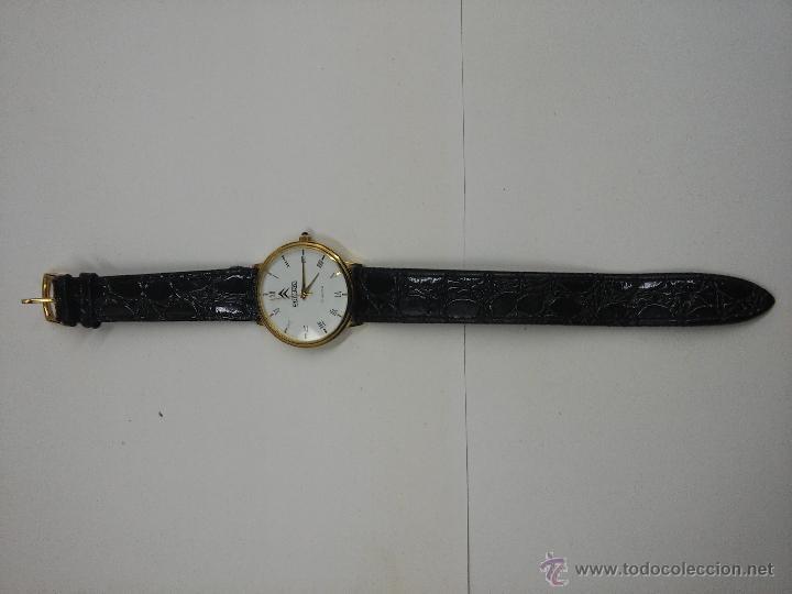 Relojes: RELOJ PULSERA - SAMSA -QUARTZ WATER RESISTANT - 18 K GOLD PLATED - Foto 4 - 122823986