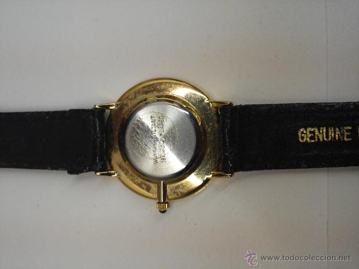 Relojes: RELOJ PULSERA - SAMSA -QUARTZ WATER RESISTANT - 18 K GOLD PLATED - Foto 5 - 122823986