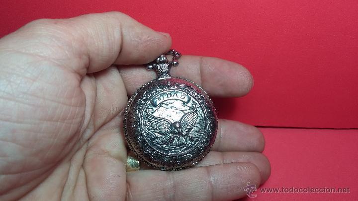 Relojes: Reloj de bolsillo motero a pilas con una muy bella decoración - Foto 4 - 47992880