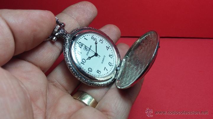 Relojes: Reloj de bolsillo motero a pilas con una muy bella decoración - Foto 5 - 47992880