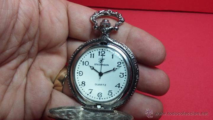 Relojes: Reloj de bolsillo motero a pilas con una muy bella decoración - Foto 6 - 47992880