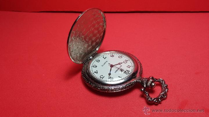 Relojes: Reloj de bolsillo motero a pilas con una muy bella decoración - Foto 7 - 47992880