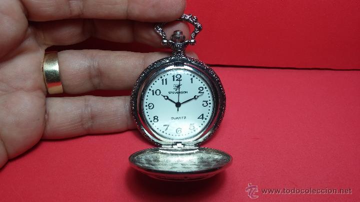 Relojes: Reloj de bolsillo motero a pilas con una muy bella decoración - Foto 8 - 47992880