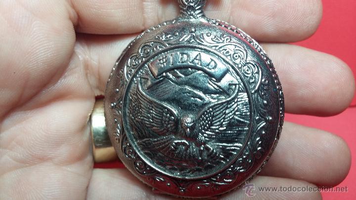 Relojes: Reloj de bolsillo motero a pilas con una muy bella decoración - Foto 10 - 47992880