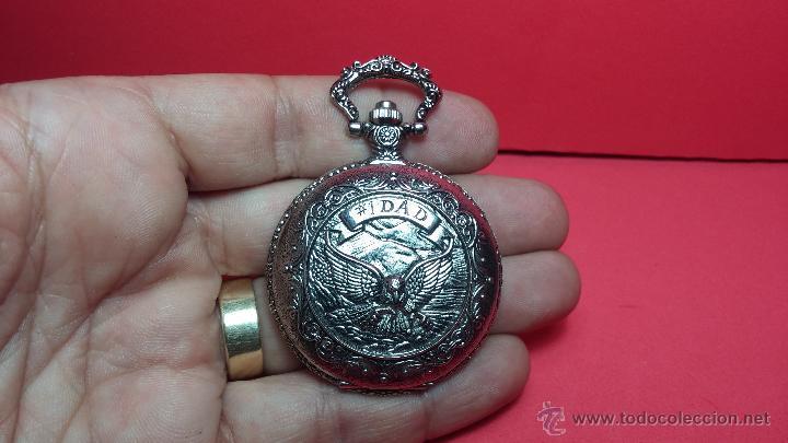 Relojes: Reloj de bolsillo motero a pilas con una muy bella decoración - Foto 12 - 47992880