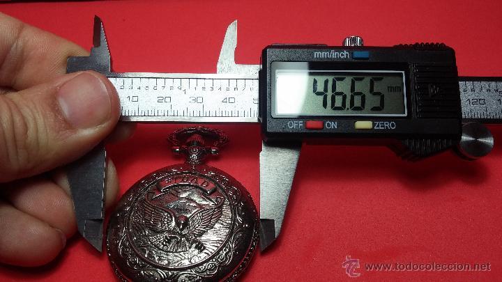 Relojes: Reloj de bolsillo motero a pilas con una muy bella decoración - Foto 14 - 47992880