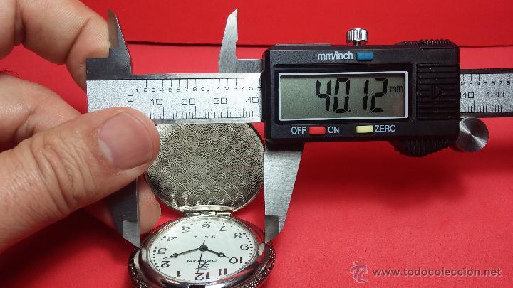 Relojes: Reloj de bolsillo motero a pilas con una muy bella decoración - Foto 16 - 47992880