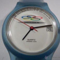 Relojes: RELOJ UNISEX JUEGOS OLÍMPICOS BARCELONA'92 (AZUL CIELO) (NOS = NEW OLD STOCK). Lote 48564174
