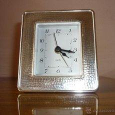 Relojes: RELOJ DESPERTADOR QUARTZ EJ 710, GERMANY - FRONTAL PLATA 1ª LEY. Lote 48741239