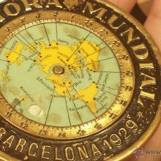 Relojes: RARISIMA CHAPA RELOJ HORARIO MUNDIAL DE 1929 . Lote 48909648
