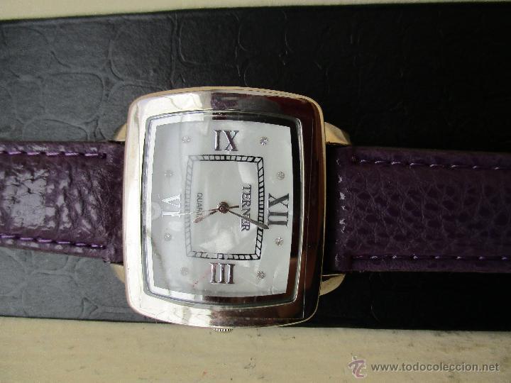 Relojes: RELOJ TERNER YH-79 G ESFERA NACARADA NUEVO QUARTZ FUNCIONA - Foto 4 - 49451871
