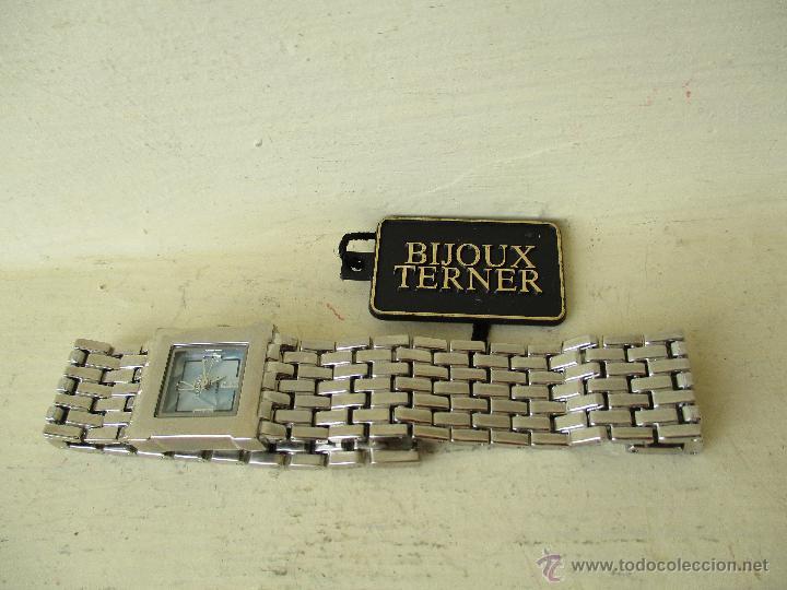 Relojes: PPRECIOSO RELOJ DE MUJER TERNER QUARTZ CORREA ACERO NUEVO - Foto 6 - 49477978