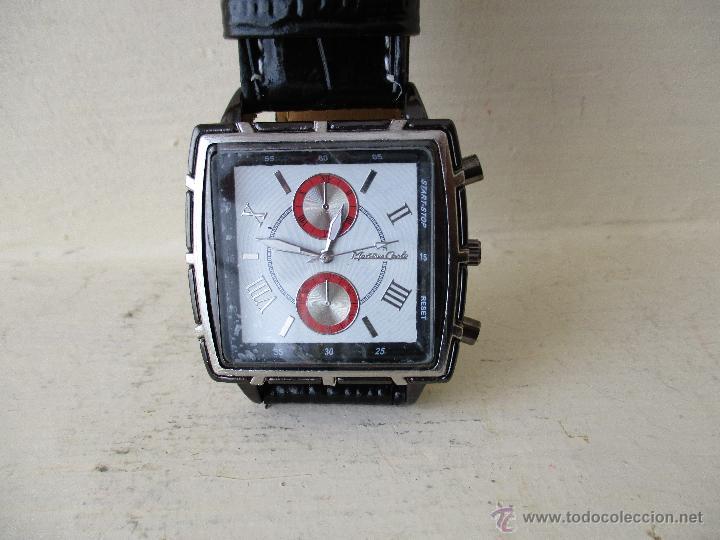 Relojes: RELOJ DE HOMBRE MONTRES CARLO 30902 QUARTZ MOV WATER RESISTANT NUEVO - Foto 7 - 49480664