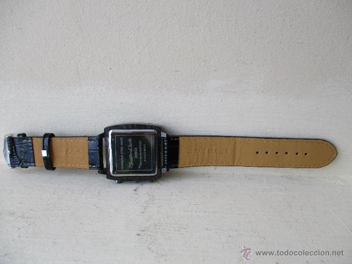 Relojes: RELOJ DE HOMBRE MONTRES CARLO 30902 QUARTZ MOV WATER RESISTANT NUEVO - Foto 8 - 49480664