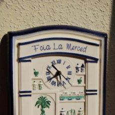Relojes: ORIGINAL RELOJ DE CERÁMICA - PUBLICIDAD DE VICKS - FARMACIA LA MERCED. Lote 49995104