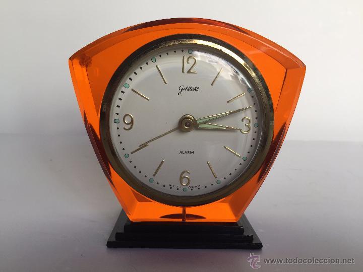 RELOJ DESPERTADOR ALEMAN GOLDBUHL CARGA MANUAL AÑOS 50 60 (Relojes - Relojes Actuales - Otros)