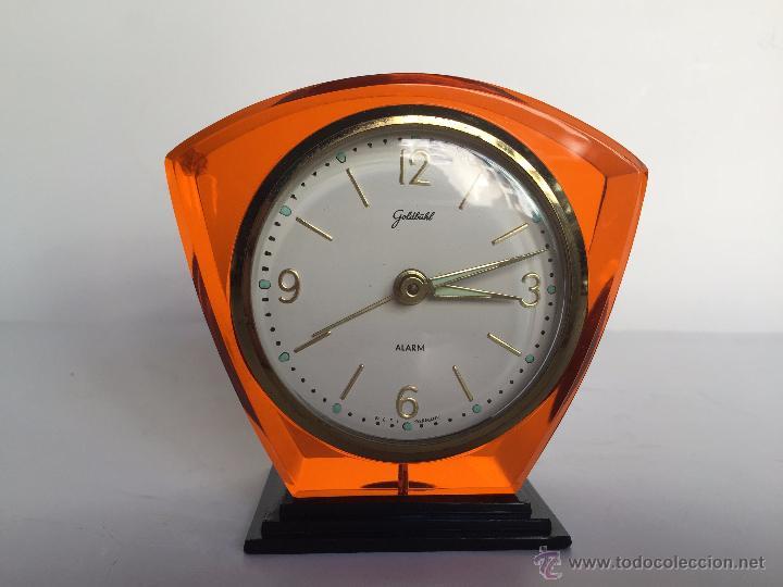 Relojes: RELOJ DESPERTADOR ALEMAN GOLDBUHL CARGA MANUAL AÑOS 50 60 - Foto 6 - 50027658