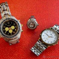 Relojes: LOTE DE TRES RELOJES - DOS DE PULSERA Y UNO DE DEDO - LOTUS - FABIAN LAR - SIX. QUARTZ - TITANIUM. Lote 50793635