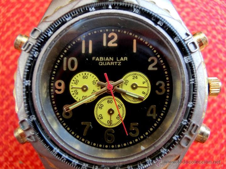 Relojes: LOTE DE TRES RELOJES - DOS DE PULSERA Y UNO DE DEDO - LOTUS - FABIAN LAR - SIX. QUARTZ - TITANIUM - Foto 12 - 50793635