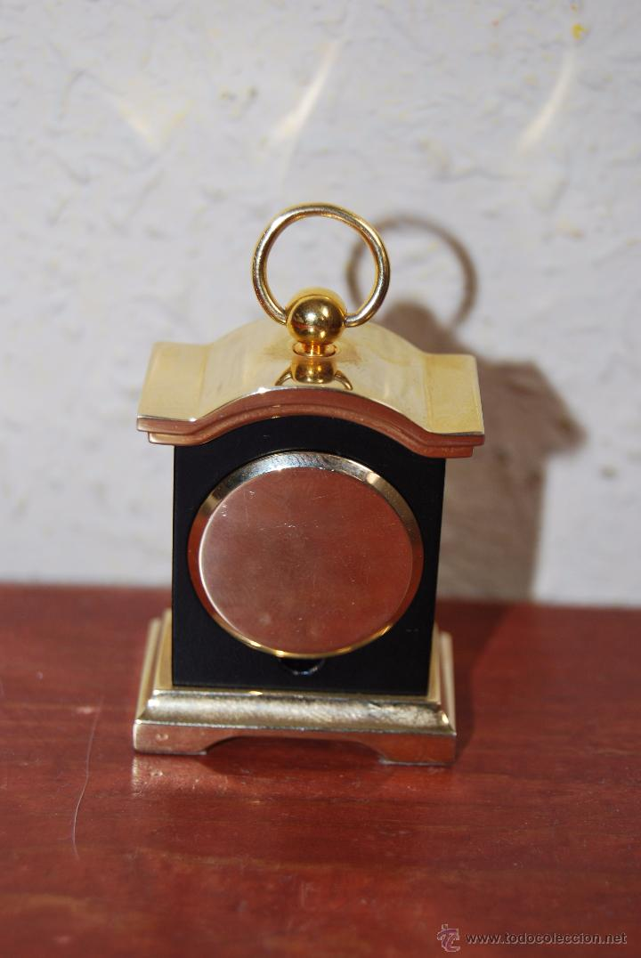 Relojes: PEQUEÑO RELOJ DE SOBREMESA - MINIATURA - CAJA DE METAL - MIYOTA JAPAN - Foto 5 - 51041406