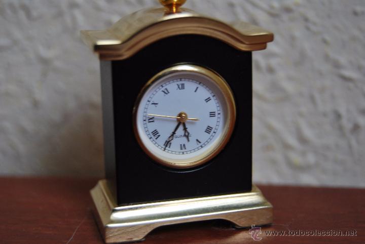 Relojes: PEQUEÑO RELOJ DE SOBREMESA - MINIATURA - CAJA DE METAL - MIYOTA JAPAN - Foto 6 - 51041406
