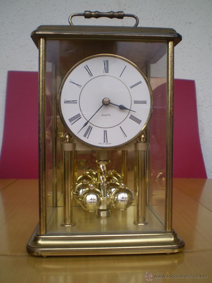 Reloj de mesa cuarzo made in germany metal comprar - Relojes antiguos de mesa ...