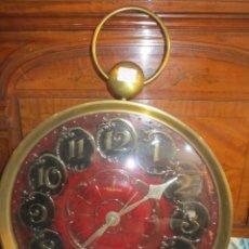 Relojes: RELOJ DE PARED TAURUS, IMITANDO RELOJ DE BOLSILLO. FUNCIONA A PILAS. 30 CMS. DIÁMETRO.. Lote 51383206