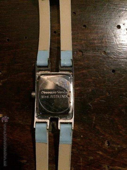 Relojes: Reloj de pulsera con esfera cuadrada estilo minimalista, con correa azul - Foto 3 - 51767022