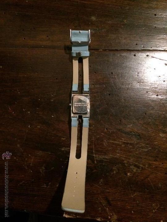Relojes: Reloj de pulsera con esfera cuadrada estilo minimalista, con correa azul - Foto 4 - 51767022