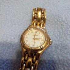 Relojes: PRECIOSO RELOJ DE SEÑORA MARCA KRONOS SAPPHIRE.MARCA HORA Y DATA,CHAPADO EN ORO. AÑOS 90. Lote 52453851
