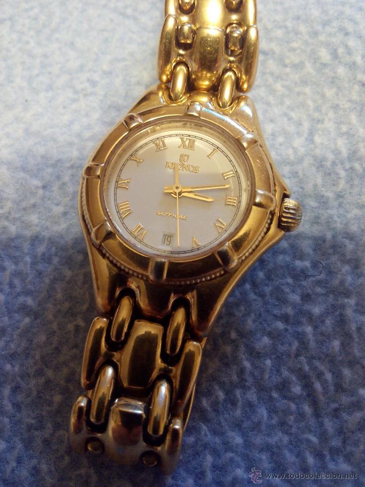 Relojes: Precioso reloj de señora marca kronos sapphire.marca hora y data,chapado en oro. Años 90 - Foto 3 - 52453851
