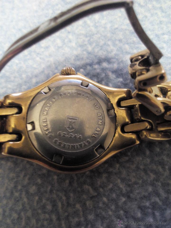 Relojes: Precioso reloj de señora marca kronos sapphire.marca hora y data,chapado en oro. Años 90 - Foto 4 - 52453851