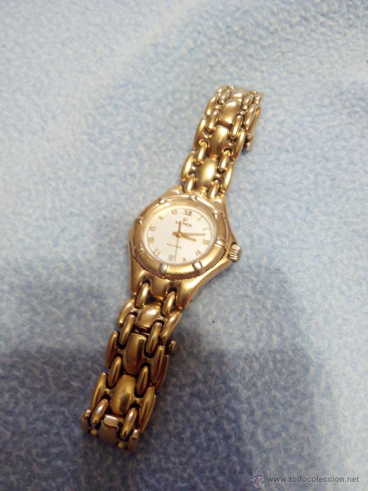Relojes: Precioso reloj de señora marca kronos sapphire.marca hora y data,chapado en oro. Años 90 - Foto 6 - 52453851