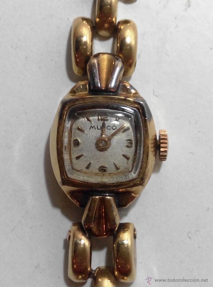 antiguo fantastico reloj de oro marca mulco relojes relojes actuales otros