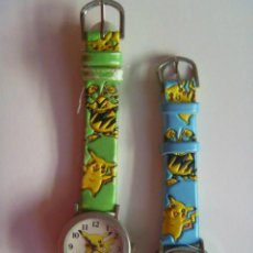 Relojes: LOTE DE 2 RELOJES DE NIÑO DE POKEMON .. Lote 90803524