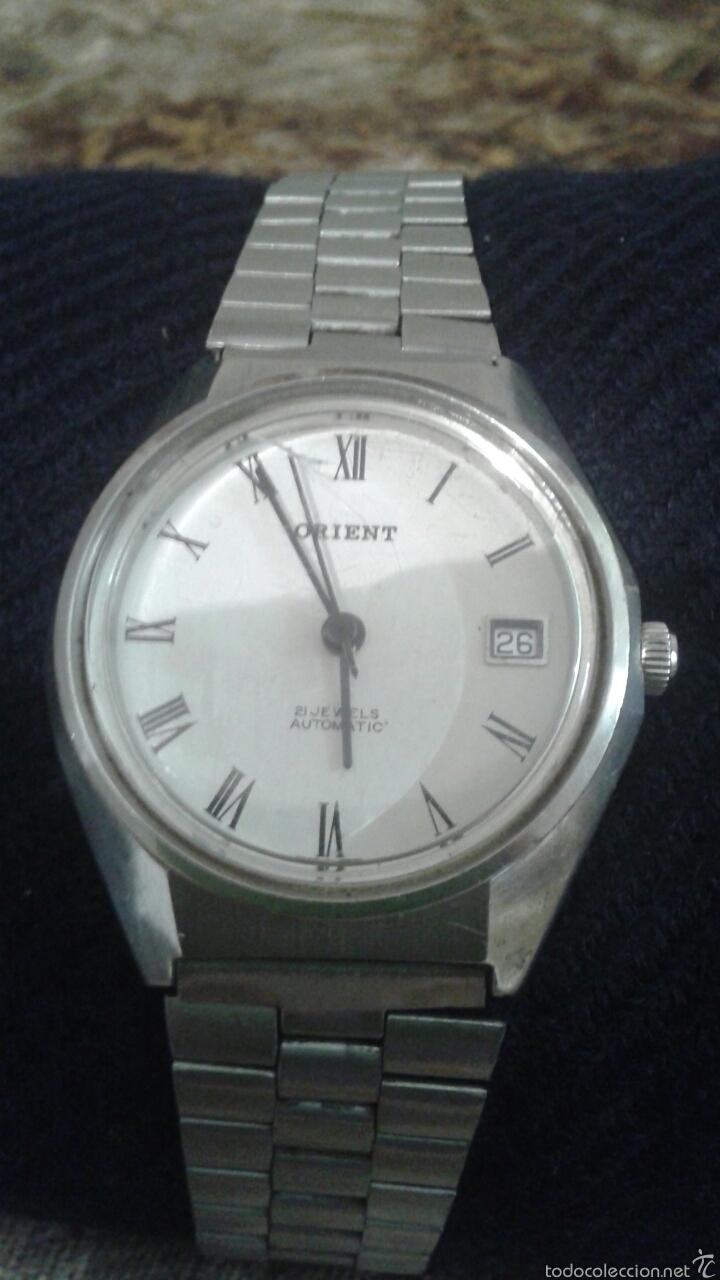 Reloj Orient hombre acero inoxidable 21 rubies automatico con calendario  water resistant 05207A146 da7ecf51b3fb