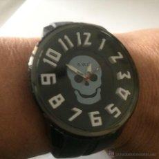 Relojes: RELOJ DE PULSERA S.W.C. CALAVERA. GRAN TAMAÑO. ACERO, ALTA CALIDAD.. Lote 53304154