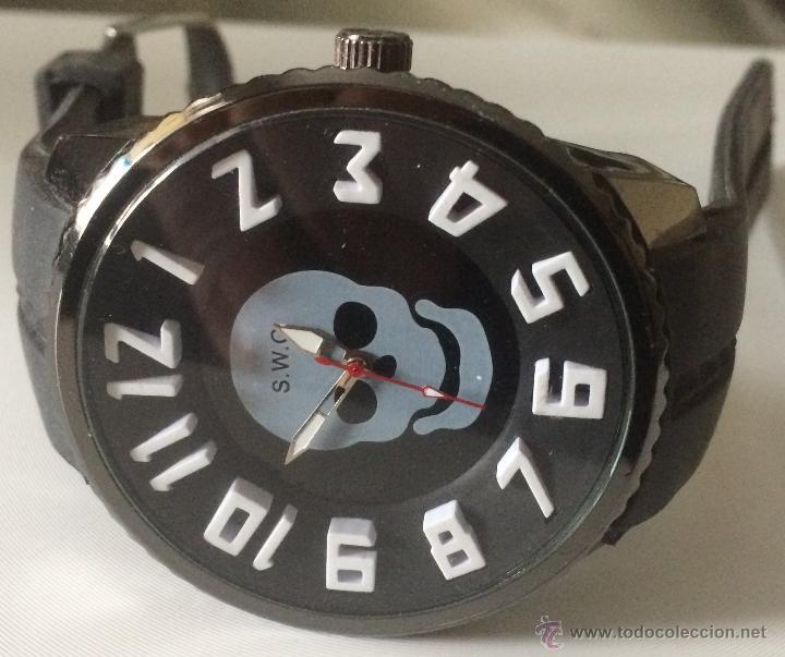 Relojes: Reloj de pulsera S.W.C. Calavera. Gran tamaño. Acero, alta calidad. - Foto 3 - 53304154