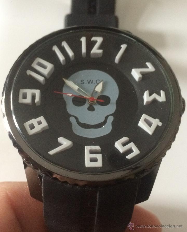 Relojes: Reloj de pulsera S.W.C. Calavera. Gran tamaño. Acero, alta calidad. - Foto 6 - 53304154