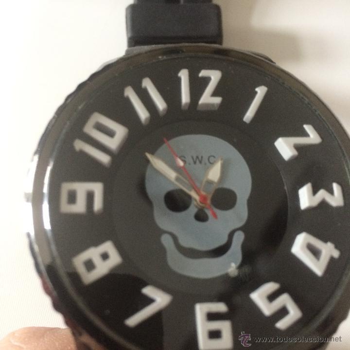 Relojes: Reloj de pulsera S.W.C. Calavera. Gran tamaño. Acero, alta calidad. - Foto 7 - 53304154