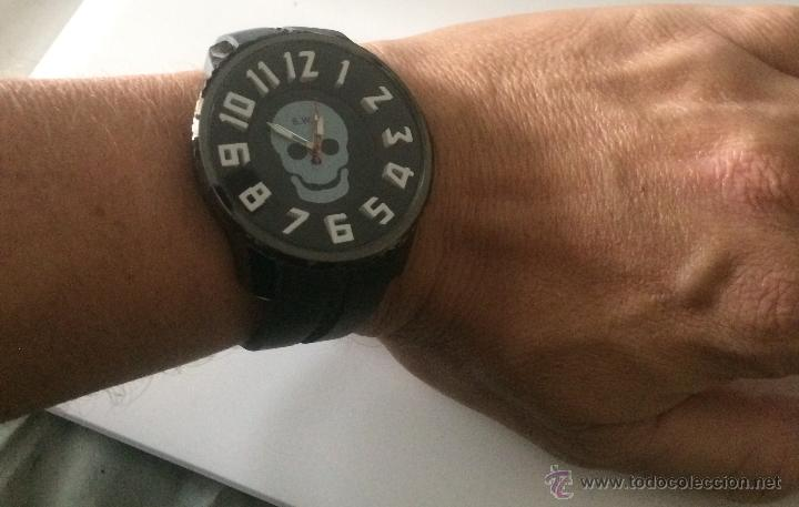 Relojes: Reloj de pulsera S.W.C. Calavera. Gran tamaño. Acero, alta calidad. - Foto 8 - 53304154
